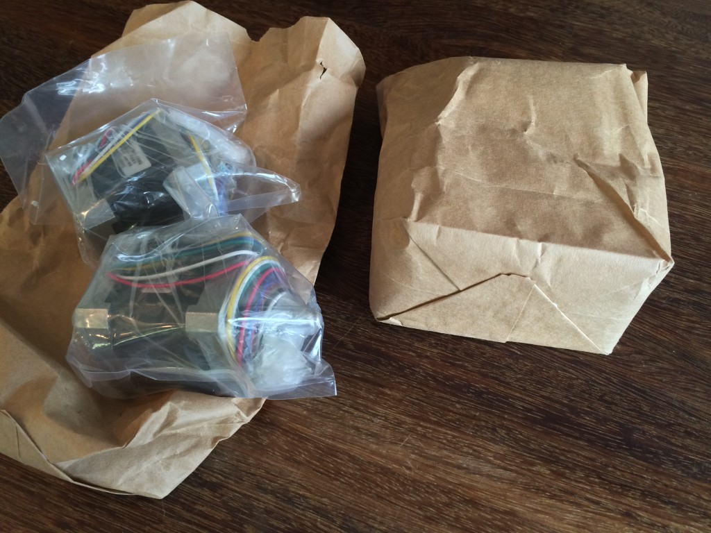 stepper motor - brown paper bags